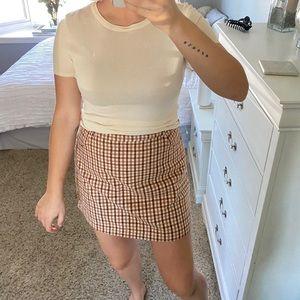 Lulus Plaid Mini Skirt